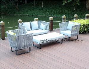 Garden Furniture Aluminum Frame Outdoor Sofa Set with Cushion