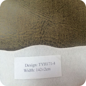 Wax Surface Similar Leather 100% Polyester Fabric