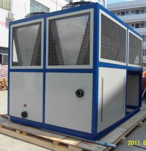 80HP 200kw Hanbell Compressor Plate Heat Exchange Air Cooled Screw Water Chiller