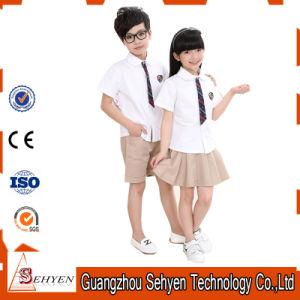 c4ed51076 China 100% Cotton Kids Clothes Set Primary School Uniform Designs ...