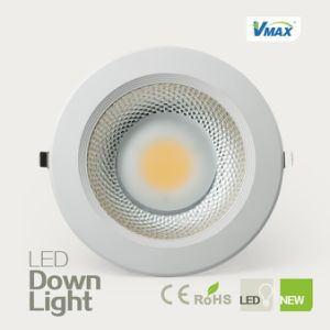 High Brightness LED Downlight 20W Recessed High CRI COB Light Source No UV Radiation pictures & photos