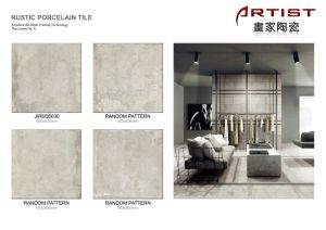 Customized Rustic Tiles with Small MOQ Low Water Absorption Size 600X600mm