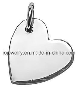 Custom Plain Logo Tag Sideways Heart Rose Gold Charm pictures & photos