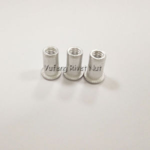 Aluminum Flat Head Rivet Nut with Knurled Body pictures & photos