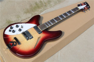 Hanhai Music/Left Handed Electric Guitar with Clouds Venner (Model340) pictures & photos