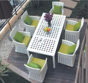 China PE Rattan Wicker Outdoor Garden Dining Restaurant Table - Restaurant table and chair sets