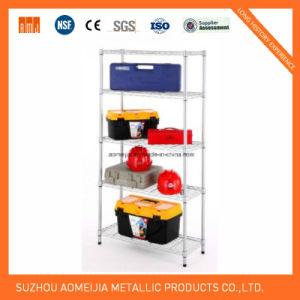 6 Layer Shelf Adjustable Steel Wire Metal Shelving Rack