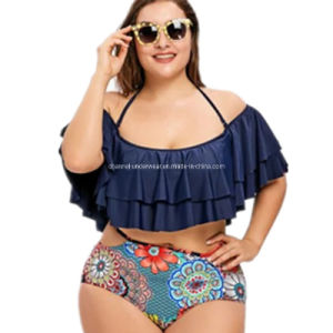d41d6668be9 China High Waist Two Piece Plus Size Cutout Swimwear Bikini Sets ...