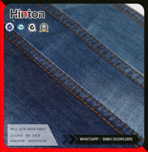 Will Slub 80%Cotton20% Polyester Denim Fabric pictures & photos