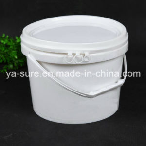 6L Round Plastic Packaging Bucket with Handle