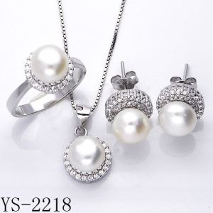 Sterling Silver Pearl Jewelry Set Hotsale pictures & photos