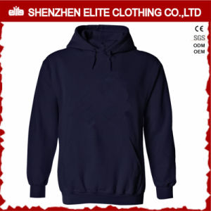 Hot Selling High Quality Navy Blue Hoodies Women Pullover (ELTHI-23) pictures & photos