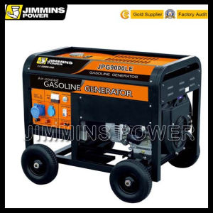 8kw 8kVA Air Cooled Single/Three Phase EPA Engine Portable Galsoine Electric Generator Set (JPG10000L 50/60Hz 3000rpm 110/220/230/240/380/400/415V)