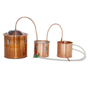 Kingsunshine 18L/5gal 3pots Home Alcohol Distiller Copper Moonshine Still
