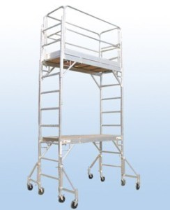 Aluminum Multi-Use Scaffold with Guardrail System Set