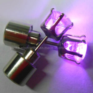 Crystal LED Popular Snack Earring with Laser Logo (4901)