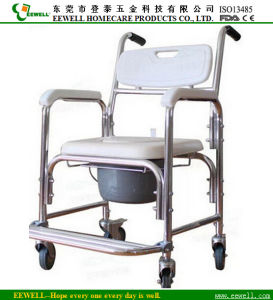 Aluminum Shower Commode Chair With Wheels 6012