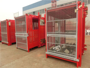 Rack and Gear Construction Elevator for Sale by Hstowercrane pictures & photos