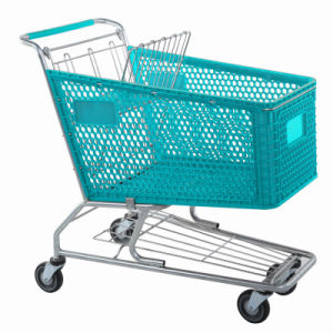 Good Quality Supermarket Plastic Shopping Trolley pictures & photos