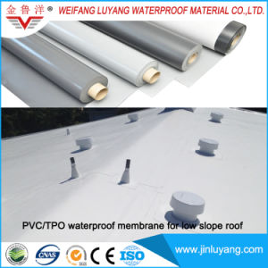 Single Ply Roofing Membrane PVC Waterproof Membrane for Low Slope Roof