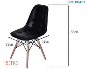 Retro Fabric Dining Chairs With Seat Padded Sy Wood Style Metal Leg