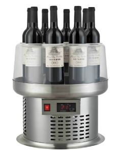 Compressor Stainless Steel Table Wine Cooler for Display with Electricity  Air-Cooling by 8 Bottles