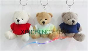 Plush Bear Keychain, Teddy Bear Keychain with T-Shirt