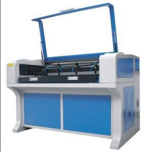 Double Heads Fabric Auto Feeding Laser Engraving Cutting Machine