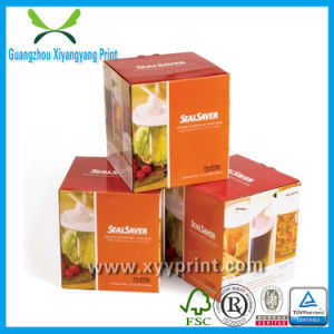 Customized Printing Paper Food Packaging Box with Window pictures & photos