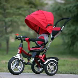 Three Wheel Hand Push Children/Baby Tricycle/Baby Stroller pictures & photos
