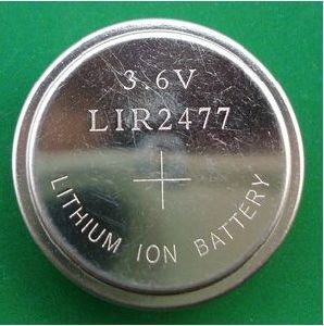 3.6V Rechargeable Lithium Button Cell Battery Lir2477 pictures & photos