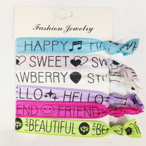 China Elastic Tie Dye Hair Ties with Custom Logo Prints (HEAD-334) - China  Hair Ties 5983ee94765
