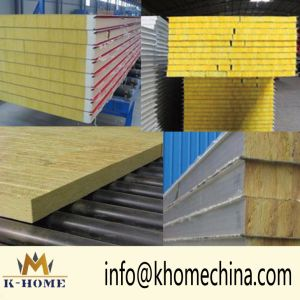 Rock Wool/Glass Wool Fireproof Insulation Roof Panel pictures & photos