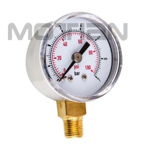 1.5 Inch Chrome Case Plastic Cover Pressure Gauge with Safety Requirement