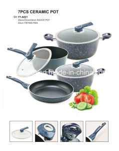 Coated Alloy Aluminium Non-Stick Frying Pan Pot Stockpot for Cookware Sets Sx-Yt-A021