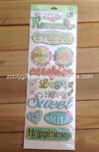 Handmade Paper Creative Craft Scrapbooking Embellishments Glitter Adhesive Dimensional Stickers pictures & photos