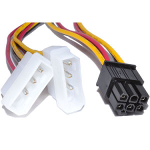 6-Pin PCI Express to 2X 3-Pin Molex Power Adapter Cable on asus harness, hitachi harness, ideal harness, delta harness,