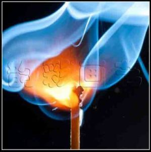 Wholesale Latest LED Light Painting on Canvas, The Burning Match pictures & photos