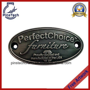 Customized Door Emblems, High Quality Antique Brushed Label