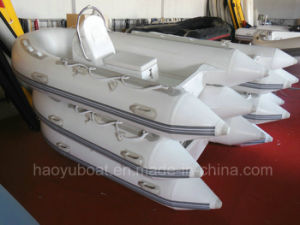 9.9feet 3m Fiberglass Hull Boat with CE Rib Boat with Outboard Motor Fishing Boat pictures & photos