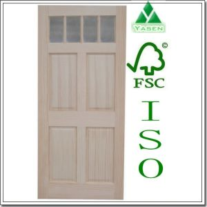 Factory Flat Panel Pine Wood/Timber Door