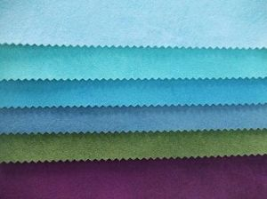 Cotton & Polyester Single or Double-Face Suede Fabric for Sofa and Curtain