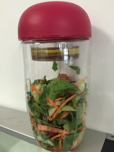 Merveilleux Salad To Go Food Storage Container, Portable Salad Bowl With Built In  Dressing Holder