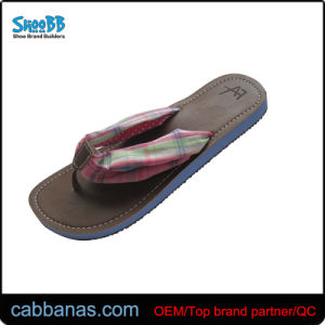 5aa493a94 China Cloth Flip Flops with PU Insole for Ladies - China Terry Cloth ...