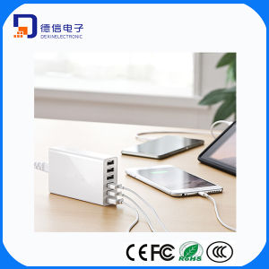 Max 5V 10A 6 Port USB Charger for Digital Devices (MU017)
