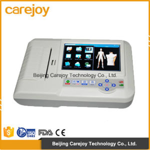 Factory Price Ce Approved Digital 6-Channel Color Touch Electrocardiograph ECG (EKG-923) -Fanny pictures & photos