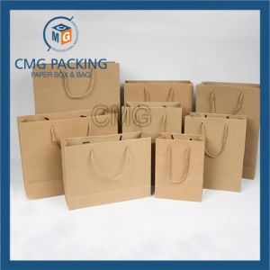 Original Recycled Brown Kraft Paper Bag with PP Rope (DM-GPBB-163) pictures & photos
