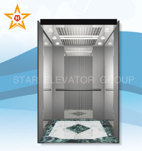 Commercial Passenger Lift with Mirror Etched Finish