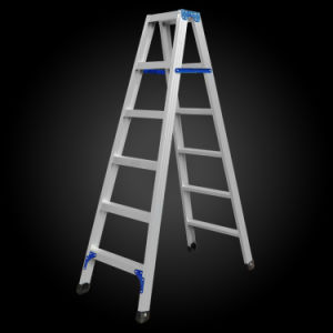 Thicken Double Folding Aluminum Scaffold Ladder pictures & photos