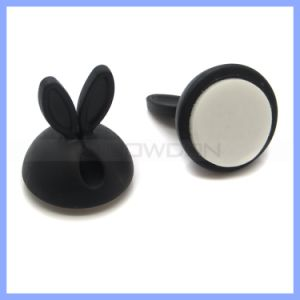 Silicone Cable Holder Earphone Cord Winders Cord Organizer Plastic Wire Clip Holder pictures & photos